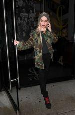 TARYN MANNING Leaves Catch LA in West Hollywood 07/02/2017\