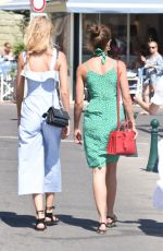 TAYLOR HILL and DAPHNE GROENEVELD Out for Ice Cream in St. Tropez 07/24/2017