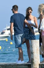 TAYLOR HILL with Her Boyfriend at Club 55 in Saint-Tropez 07/22/2017