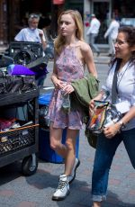TESSA ALBERTSON on the Set of Younger in New York 06/26/2017