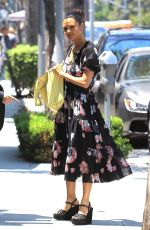 THANDIE NEWTON Out for Lunch at Cafe Gratitude in Beverly Hills 07/10/2017