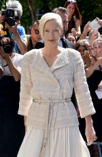 TILDA SWINTON at Chanel Fashion Show in Paris 07/04/2017