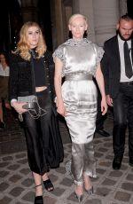 TILDA SWINTON at Vogue Party at Paris Fashion Week 07/04/2017