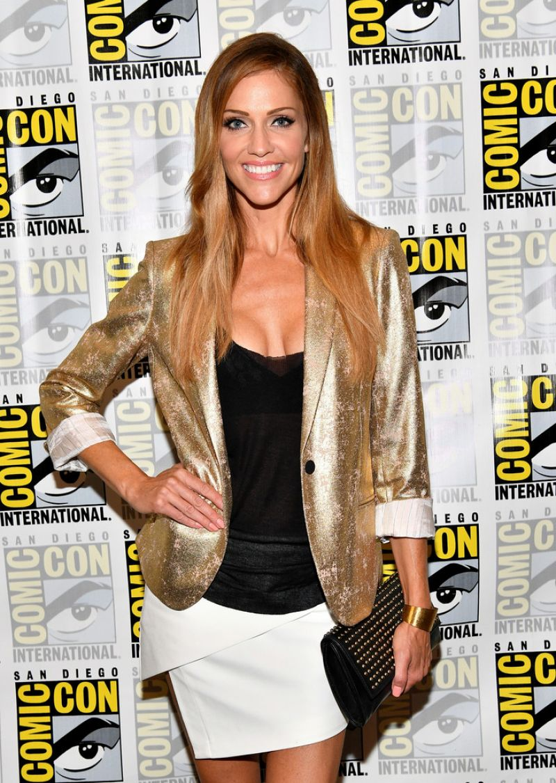 TRICIA HELFER at Battlestar Galactica Reunion Panel at Comic-con in San Diego 07/20/2017