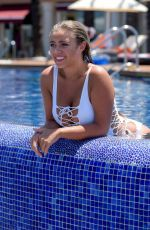 TYNE-LEXY CLARSON in Swimsuit at a Pool in Bodrum 06/28/2017