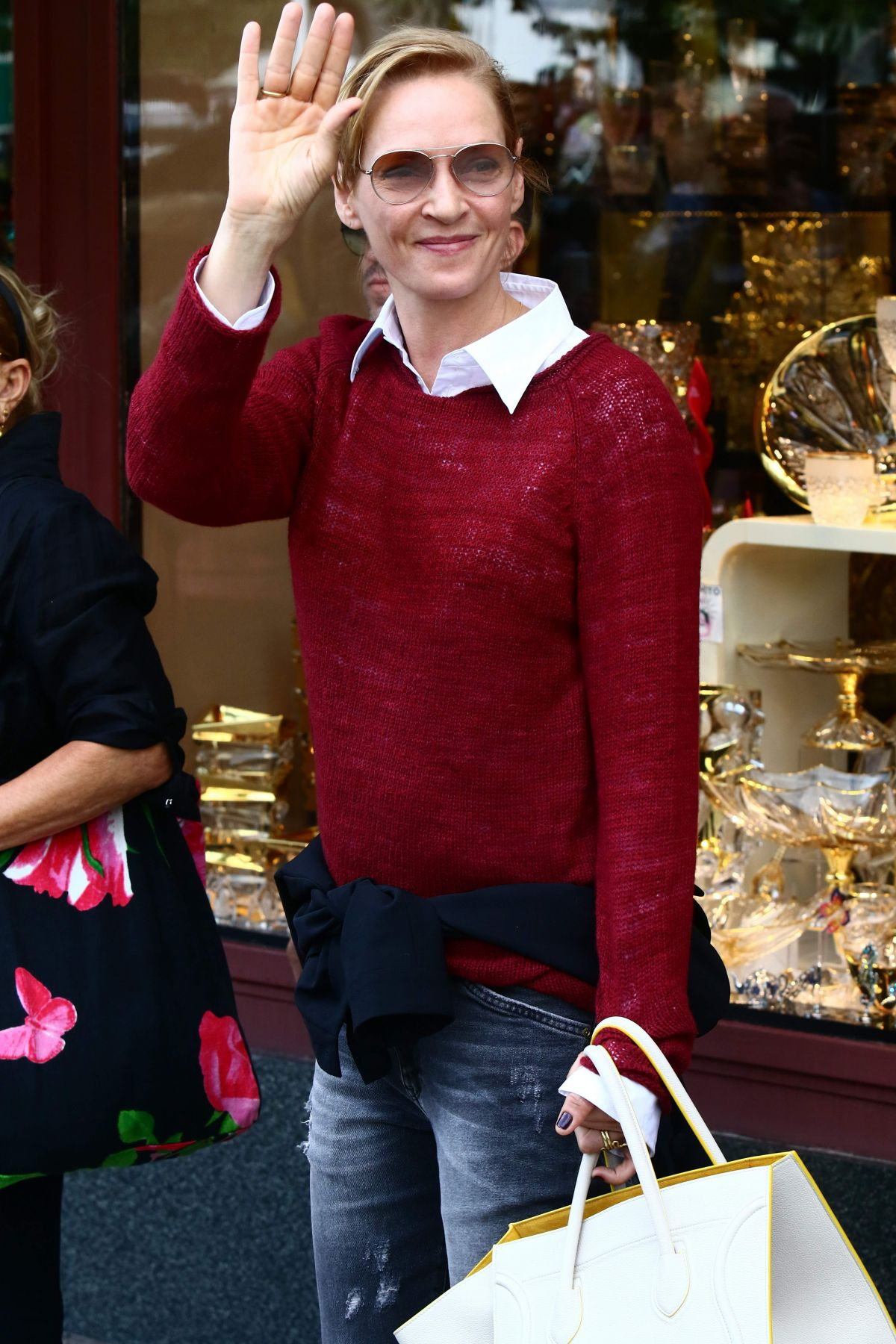 UMA THURMAN Out Shopping in Karlovy Vary 07/01/2017