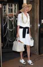 UMA THURMAN Leaves Claridges Hotel in London 07/18/2017