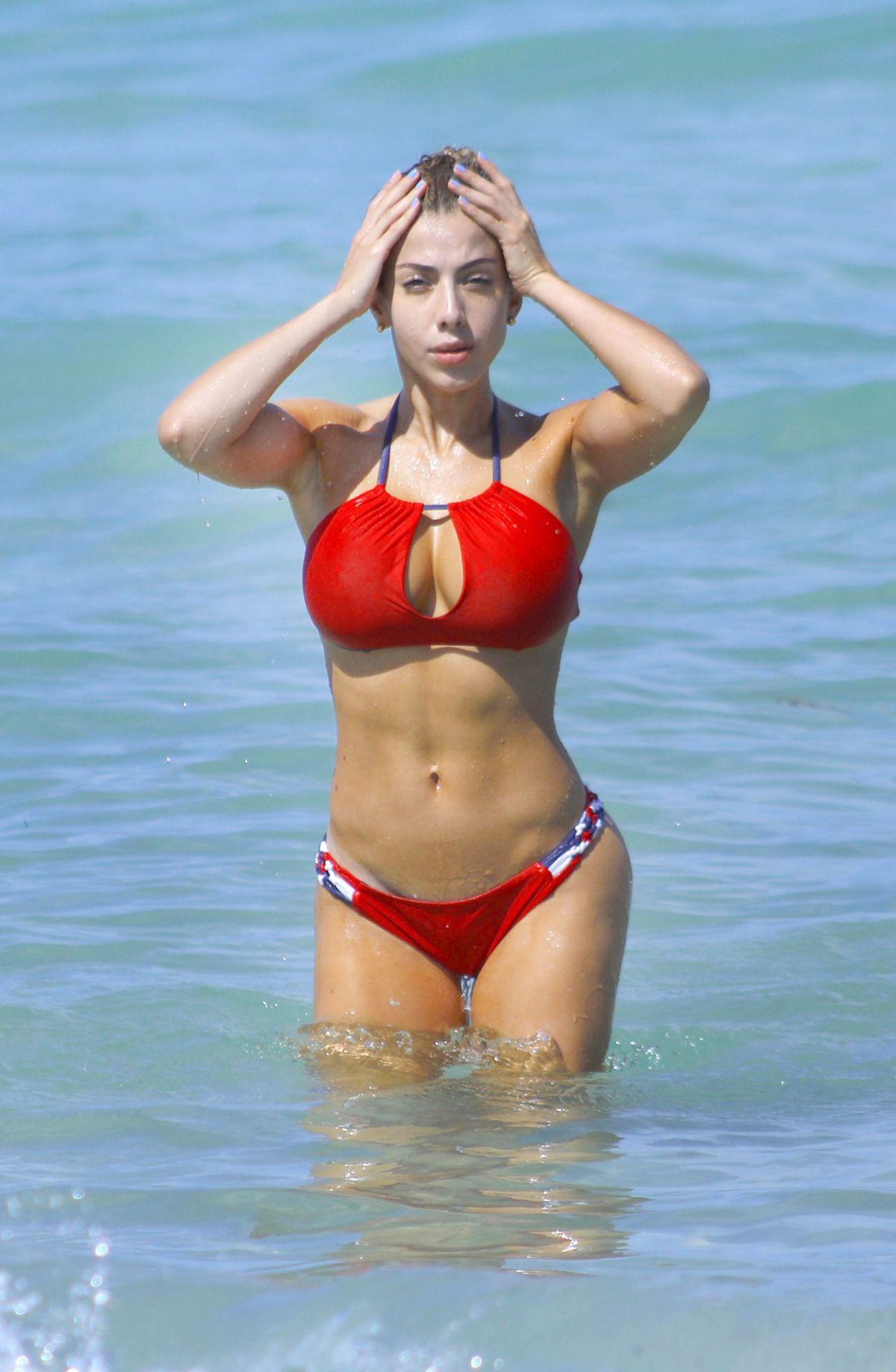 VALERIA ORSINI in Bikini at a Beach in Miami 07/04/2017