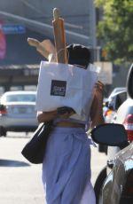 VANESSA HUDGENS Hides Behind a Bag of Baguettes in Studio City 07/03/2017