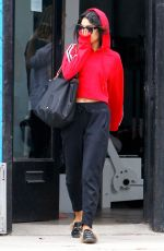 VANESSA HUDGENS Leaves a Gym in Los Angeles 06/30/2017