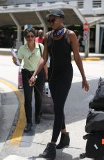 VENUS WILLIAMS at Florida International Airport 07/16/2017