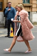 VICKY MEYERS on the Set of Age Before Beauty in Manchester 07/03/2017
