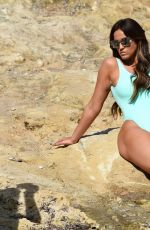VICKY PATTISON in Swimsuit on the Set of a Photoshoot in Mallorca, July 2017