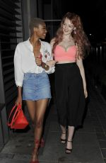 VICTORIA CLAY and JENNIFER MALENGELE at Cookoo Club in London 07/20/2017