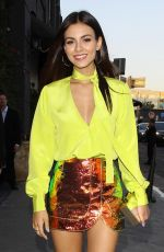 VICTORIA JUSTICE Arrives at Highlight Room Opening in Hollywood 07/11/2017