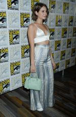 WILLA HOLLAND at Arrow Press Line at Comic-con in San Diego 07/22/2017