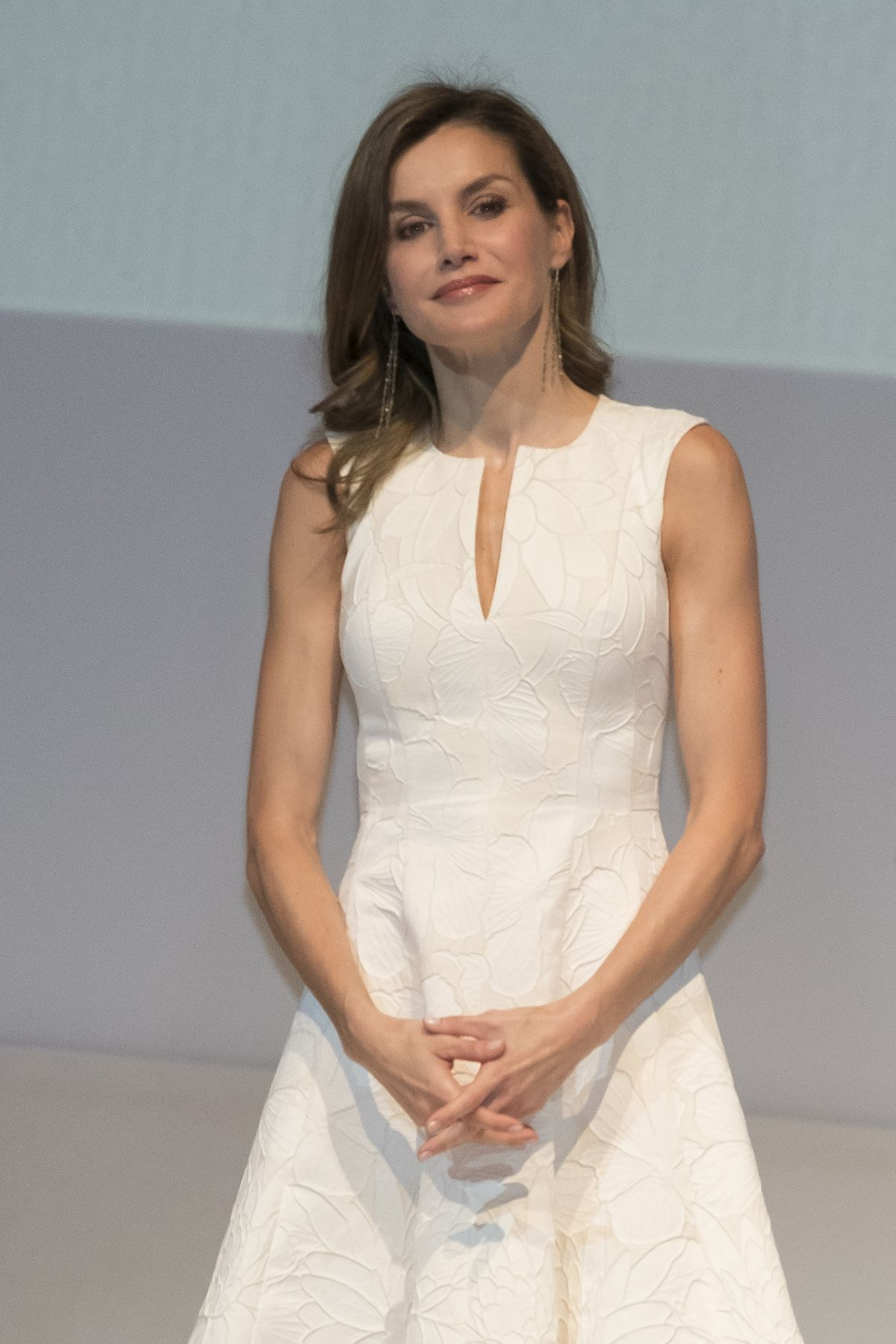 QUEEN LETIZIA OF SPAIN at 2017 National Fashion Awards in Madrid 07/17/2017