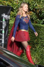YAEL GROBGLAS and MELISSA BENOIST on the Set of Supergirl 07/25/2017