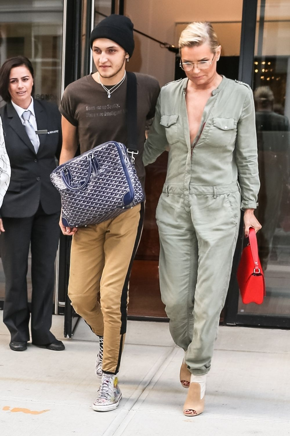 YOLANDA and Anwar HADID Out in New York 07/17/2017