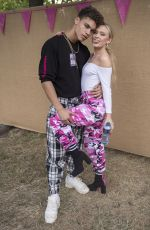 ZARA LARSSON wtih Her Boyfriend Brian H Whittaker at Backstage on Wireless Festival in London 07/07/2017