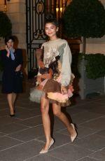 ZENDAYA Leaves Her Hotel in Paris 07/04/2017