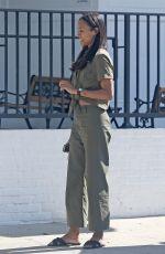 ZOE SALDANA Out in Los Angeles 07/02/2017