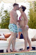 Pregnant DANIELLE LLOYD in Bikini at a Pool in Monte Carlo 08/02/2017