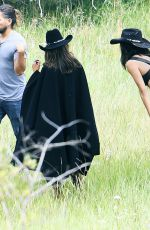 ADRIANA LIMA and ALESSANDRA AMBROSIO on the Set of VS Photoshoot in Aspen 08/15/2017