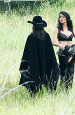 ADRIANA LIMA and ALESSANDRA AMBROSIO on the Set of VS Photoshoot in Aspen 08/15/2017