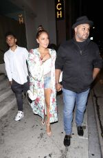 ADRIENNE BAILON and Israel Houghton at Catch LA in West Hollywood 08/30/2017