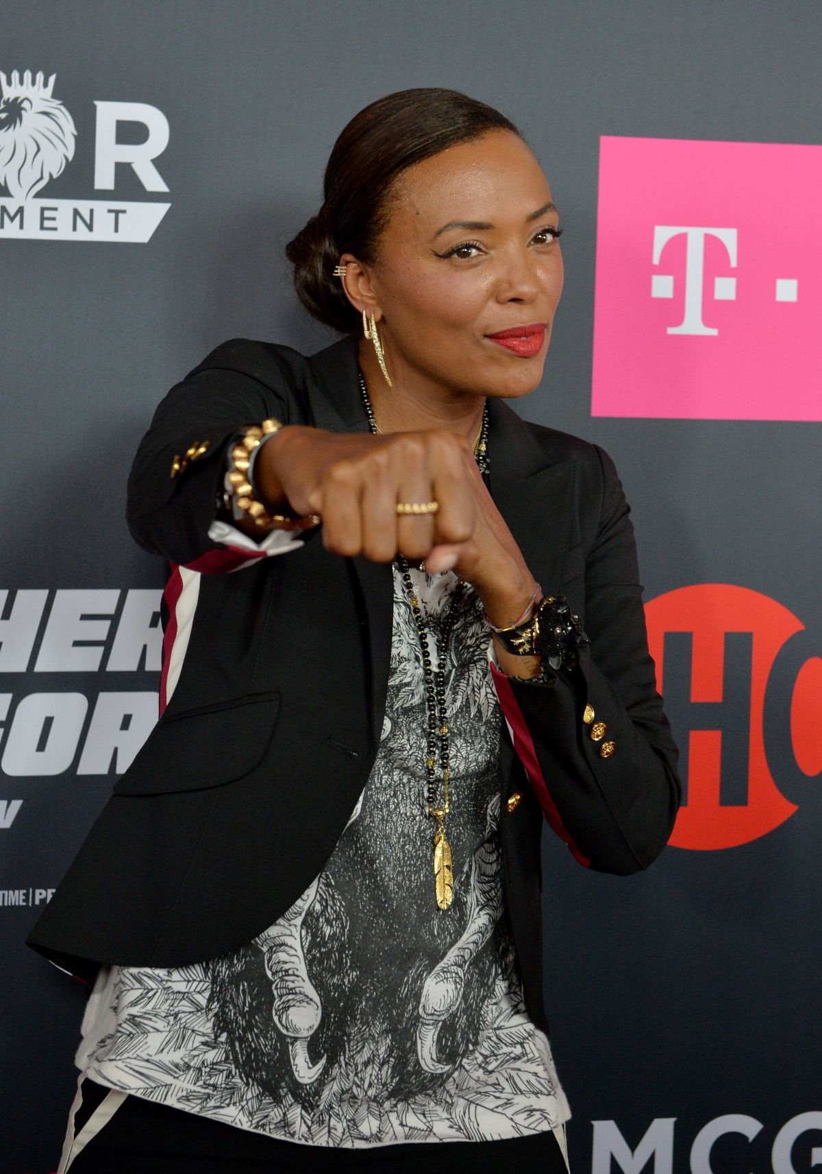 AISHA TYLER at Mayweather vs McGregor Pre-fight VIP Party in Las Vegas 08/26/2017