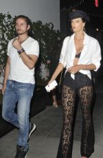 ALESSANDRA AMBROSIO Arrives at a Party at Dream Hotel in Los Angeles 08/03/2017