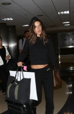 ALESSANDRA AMBROSIO at LAX Airport in Los Angeles 08/15/2017
