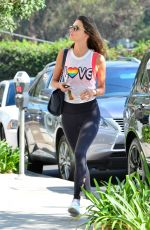 ALESSANDRA AMBROSIO Heading to a Gym in Los Angeles 08/08/2017