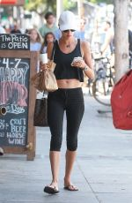 ALESSANDRA AMBROSIO Heading to a Gym in Venice 08/09/2017