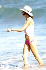 ALESSANDRA AMBROSIO in Bikini Bottom at a Beach in Malibu 08/09/2017