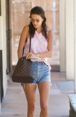 ALESSANDRA AMBROSIO in Denim Shorts Out in Los Angeles 08/05/2017