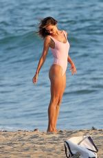 ALESSANDRA AMBROSIO in Swimsuit on the Set of a Photoshoot at a Beach in Malibu 08/05/2017