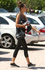 ALESSANDRA AMBROSIO in Tights Out in Brentwood 08/04/2017