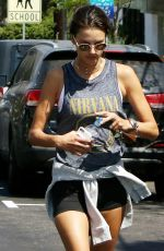 ALESSANDRA AMBROSIO Leaves a Gym in Los Angeles 08/26/2017