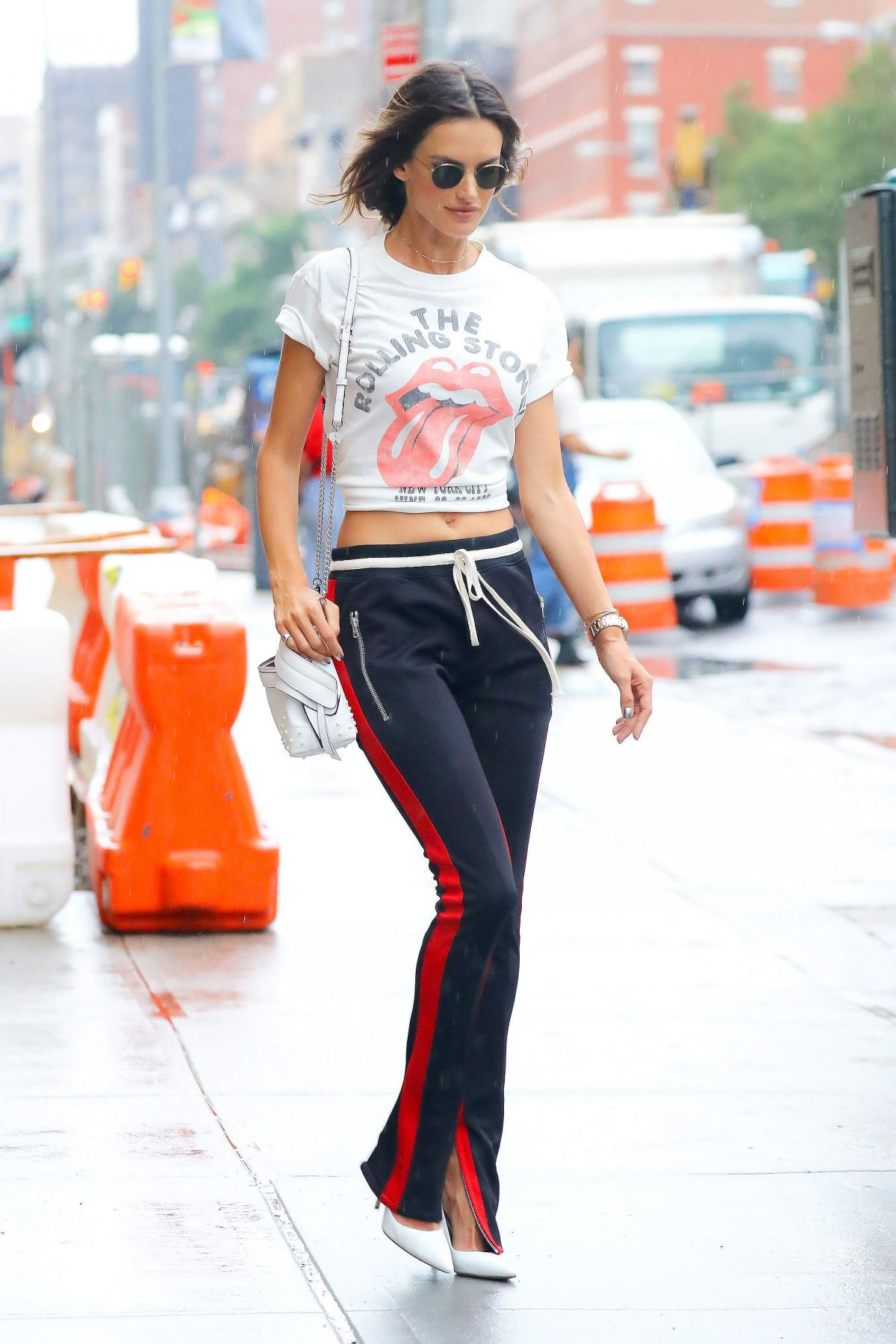 ALESSANDRA AMBROSIO Out and About in New York 08/29/2017