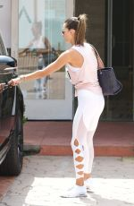 ALESSANDRA AMBROSIO Out ans About in Brentwood 08/25/2017