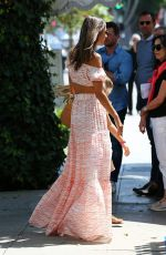 ALESSANDRA AMBROSIO Out for Lunch at Ivy in Beverly Hills 08/24/2017