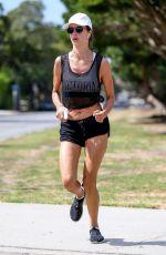 ALESSANDRA AMBROSIO Out Jogging in Santa Monica 08/01/2017