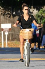 ALESSANDRA AMBROSIO Riding Her Bike Out in Brentwood 08/07/2017
