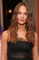 ALICIA VIKANDER at Tulip Fever VIP Preview Screening in London 08//13/2017