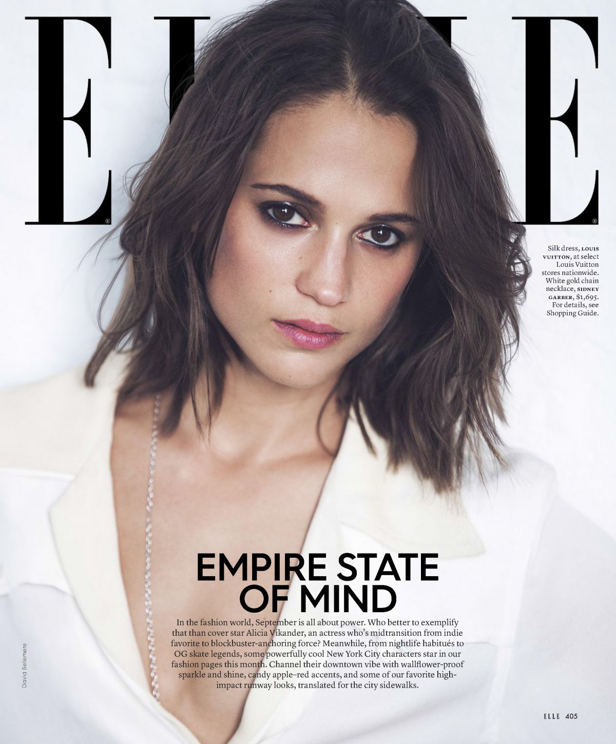 ALICIA VIKANDER in Elle Magazine, September 2017 Issue