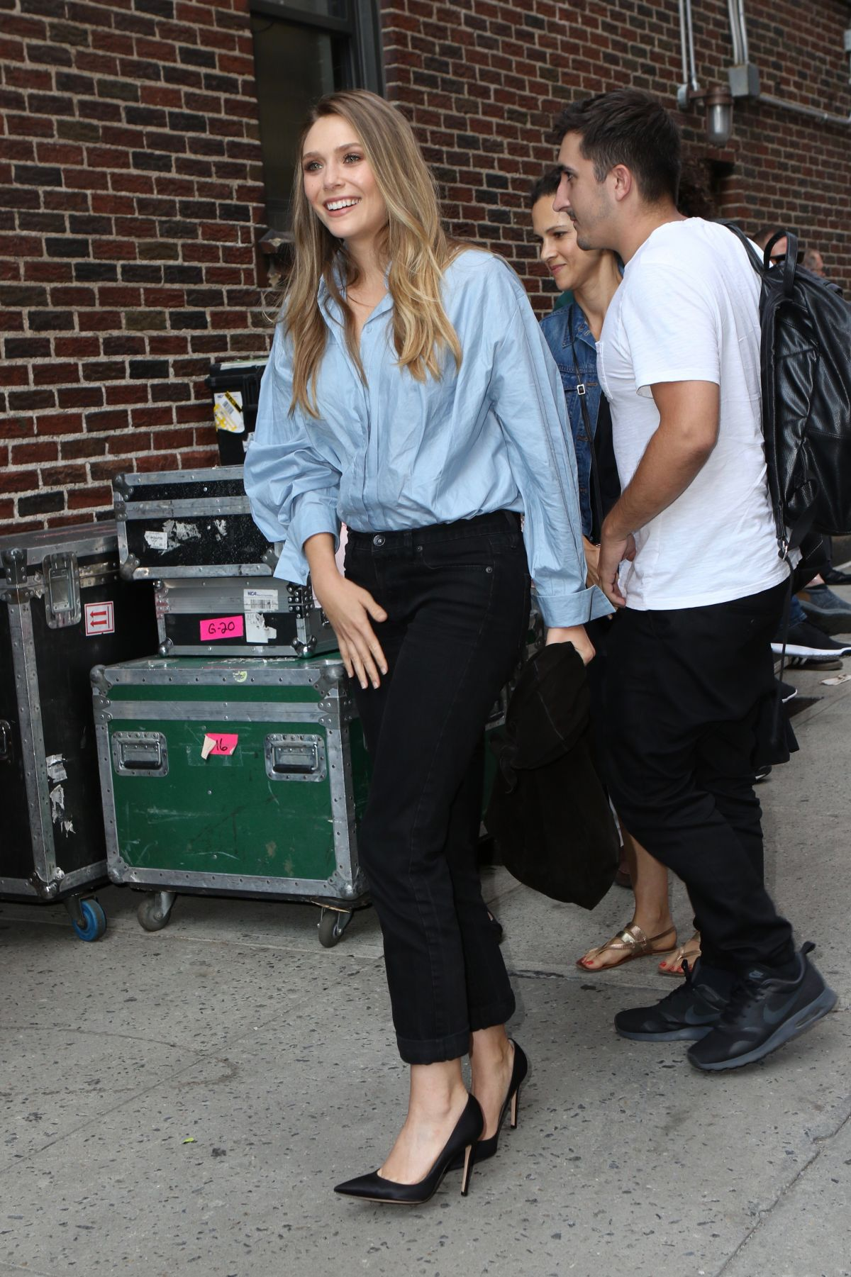 ELIZABETH OLSEN Arrives at The Late Show with Stephen Colbert in New York 08/03/2017