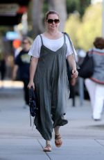ALYSON HANNIGAN Leaves a Nails Salon in Los Angeles 08/09/2017