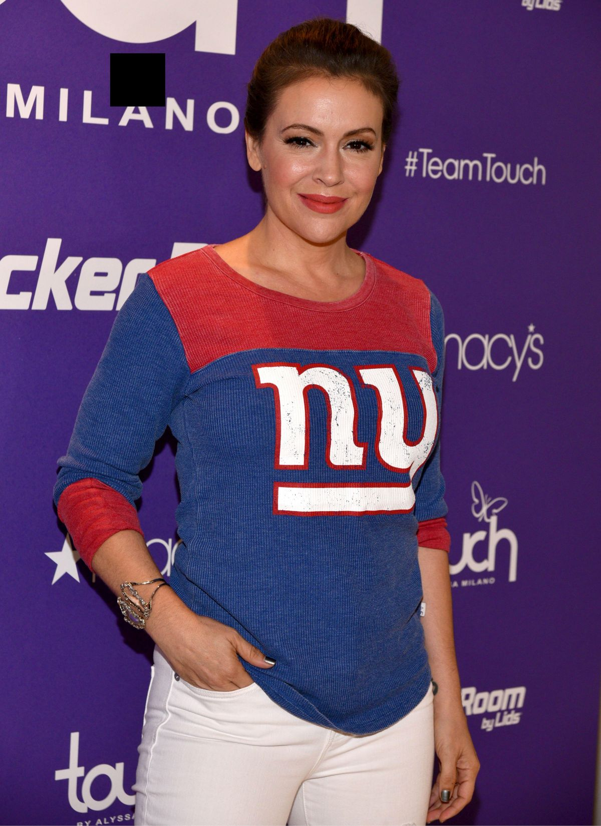 ALYSSA MILANO at Touch Launch in New York 08/23/2017